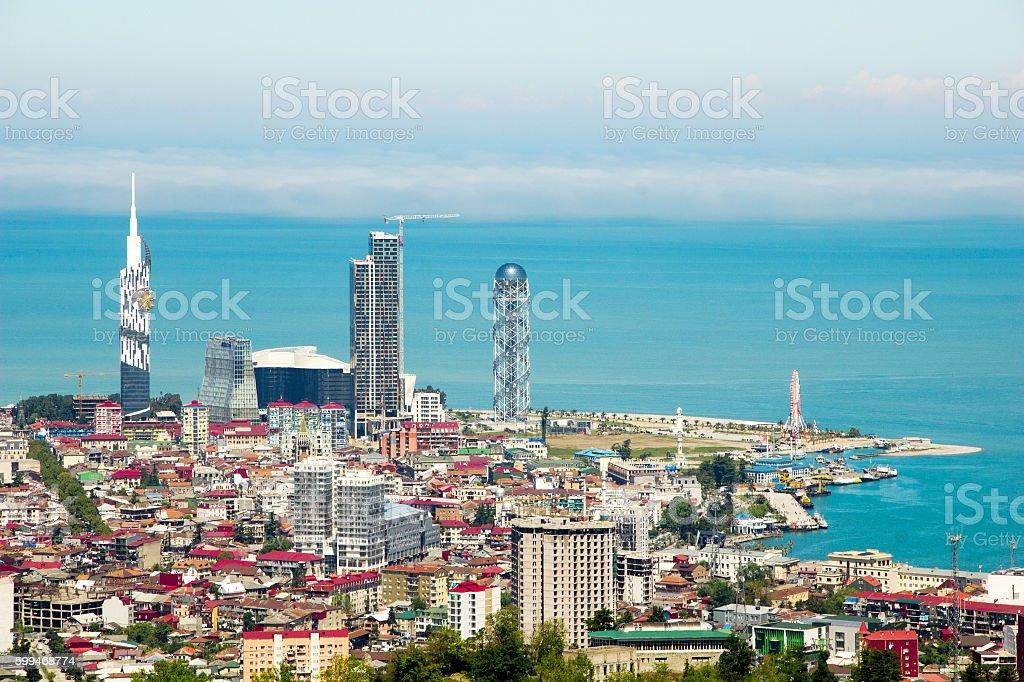 Skyline of Batumi. Adjara, Georgia stock photo