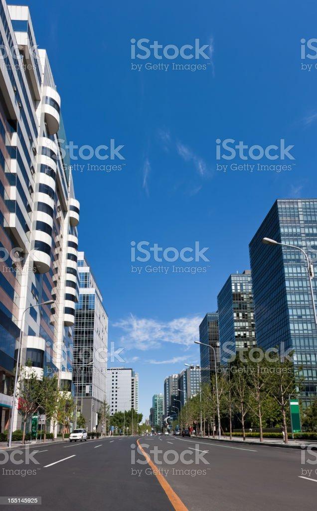 Skyline of Beijing Financial Street,China royalty-free stock photo