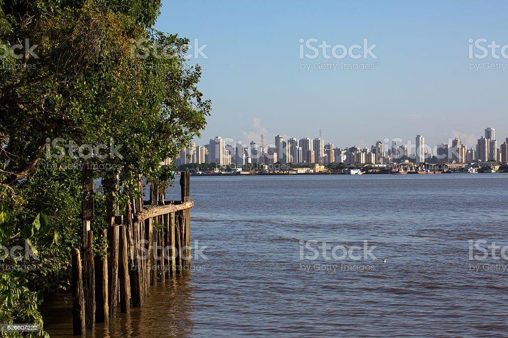 Skyline of Belém, Pará State, Brazil stock photo