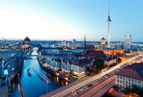 Skyline Of Berlin In Germany With TV Tower