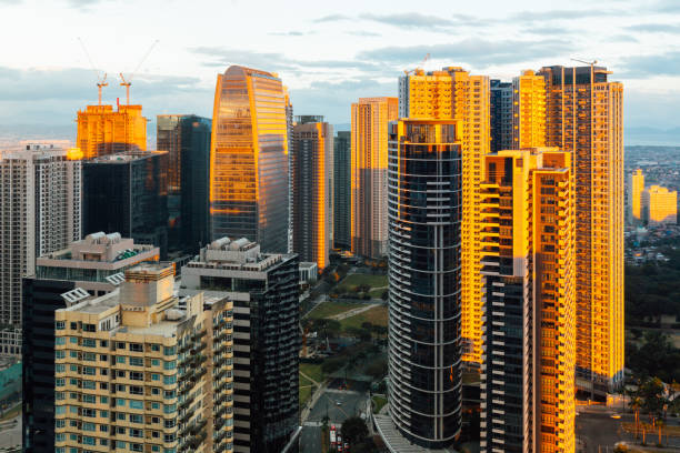 Skyline of Bonifacio Global City, Philippines stock photo
