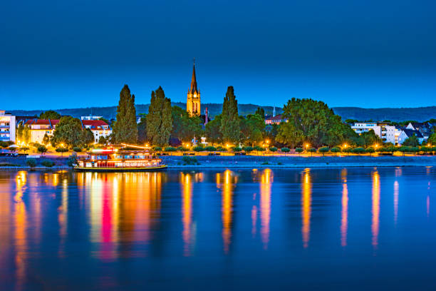 Skyline of Bonn, Germany stock photo