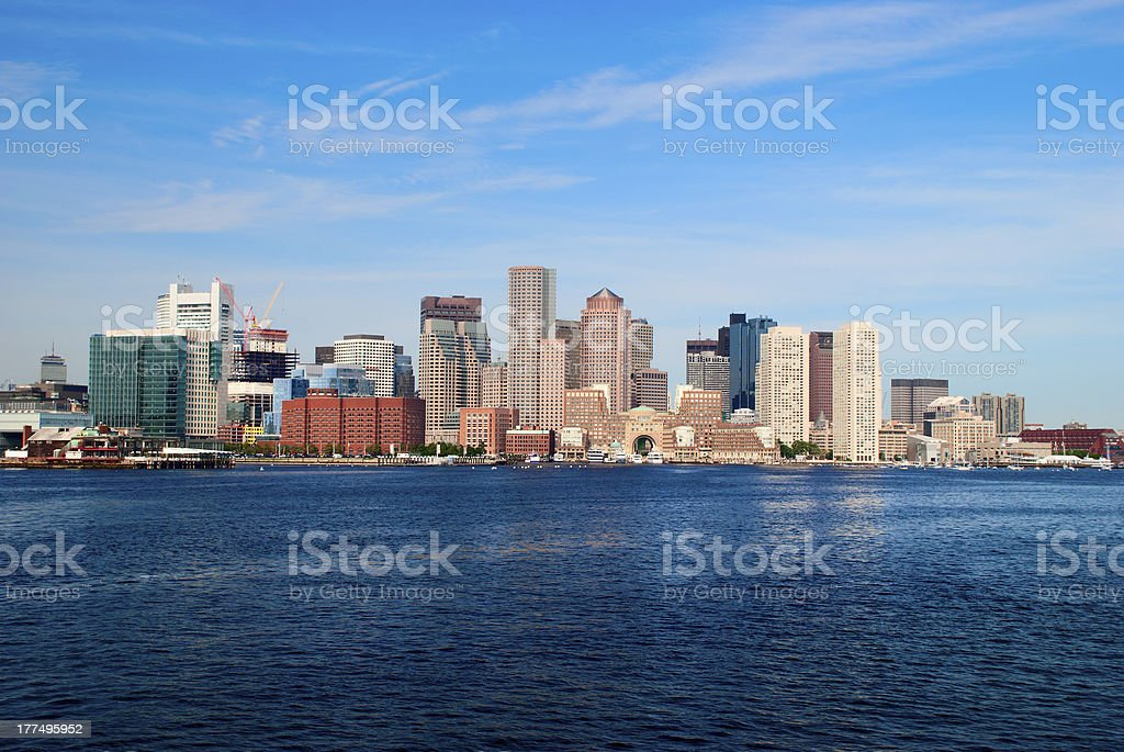 skyline of boston royalty-free stock photo