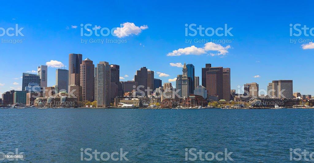 Skyline of Boston royalty-free stock photo