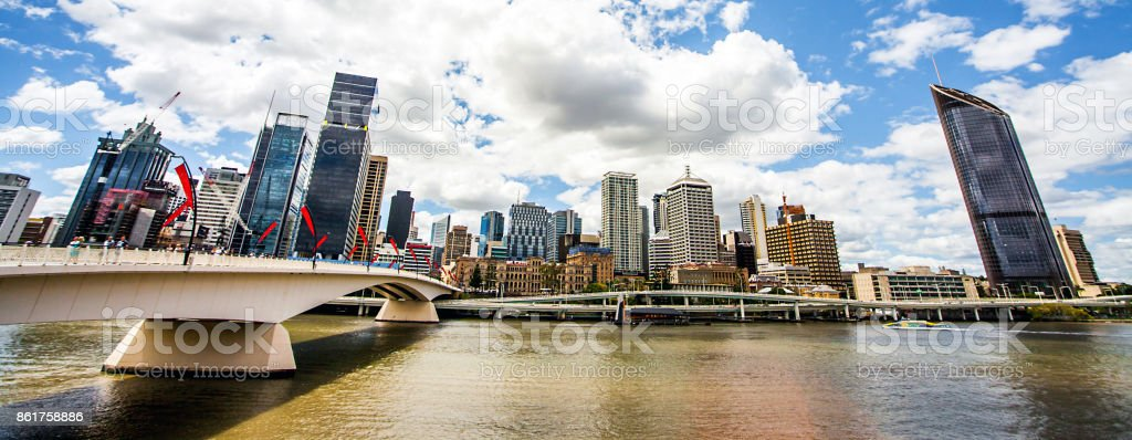 Skyline of Brisbane stock photo