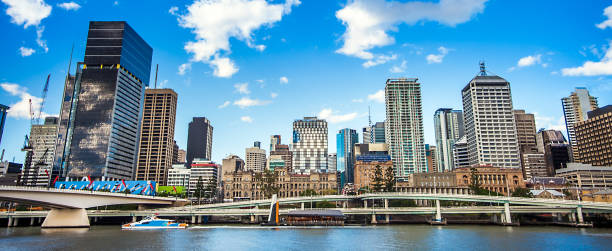 Skyline of Brisbane Queensland Australia stock photo