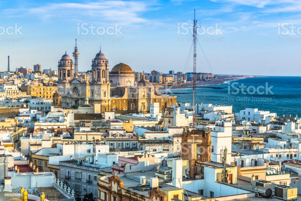 Skyline of Cadiz stock photo