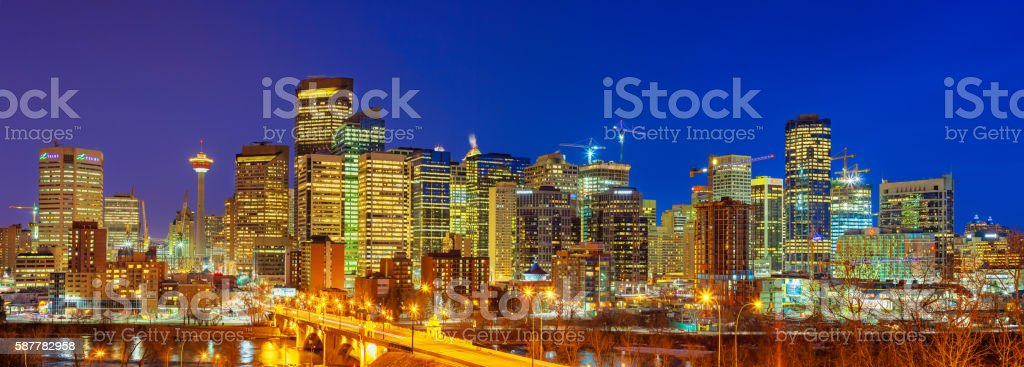 Skyline of Calgary Alberta Canada stock photo