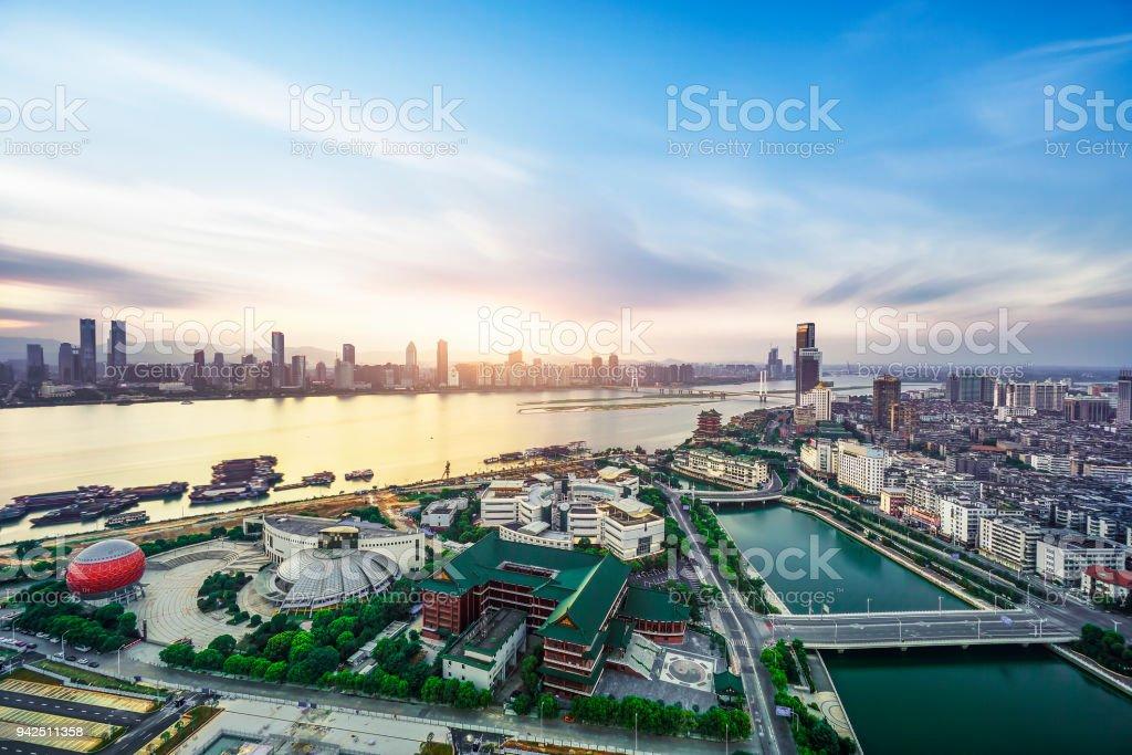 Skyline von CBD City, Shenzhen – Foto