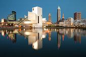 istock Skyline of Cleveland at night. 1257572785