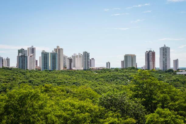 Skyline of Cuiaba city stock photo