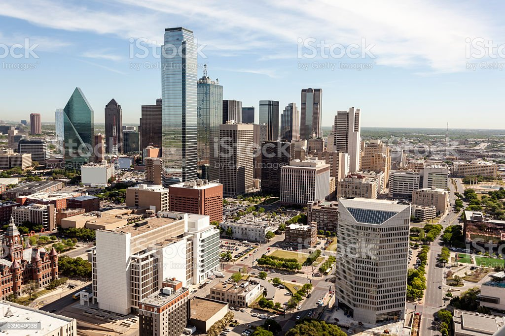 Skyline of Dallas downtown stock photo