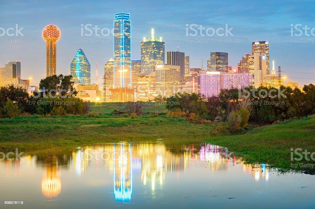 Skyline of Dallas Texas USA stock photo