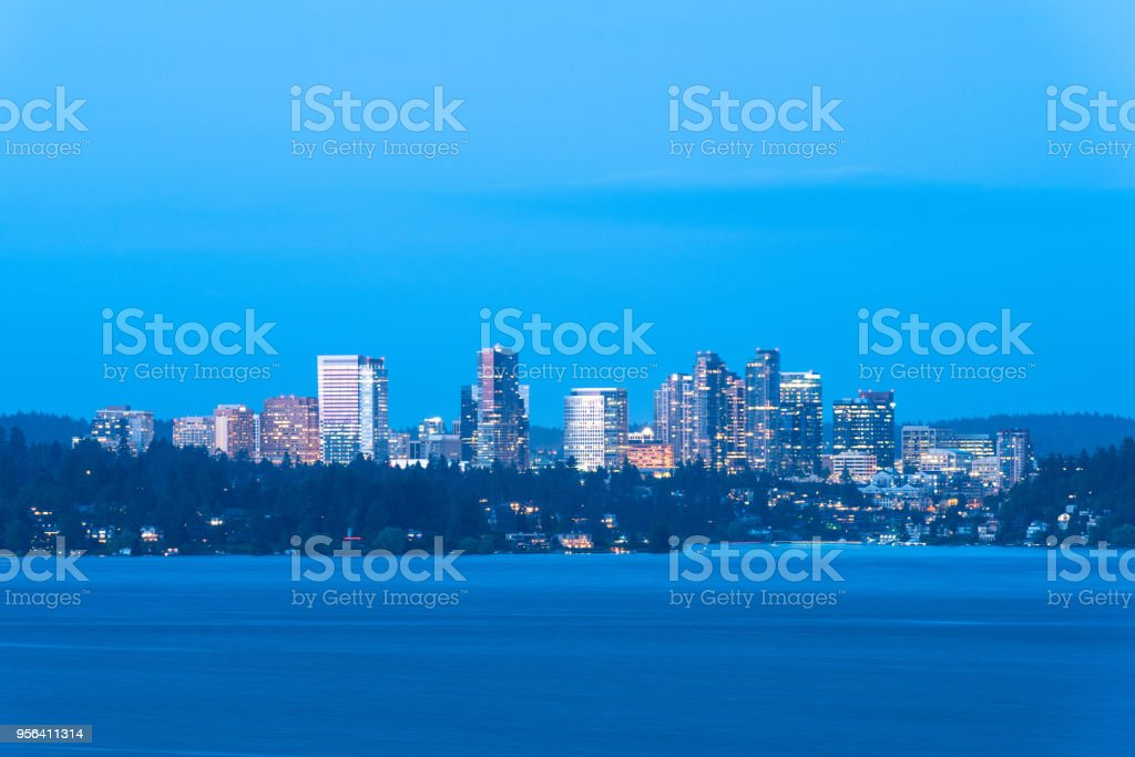 Skyline of downtown Bellevue stock photo