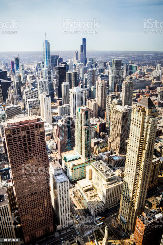 Skyline of Downtown Chicago royalty-free stock photo