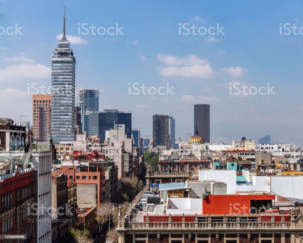 View of Skyline of Downtown Mexico City, Mexico