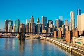 istock Skyline of downtown New York, Manhattan,  New York City 613773268