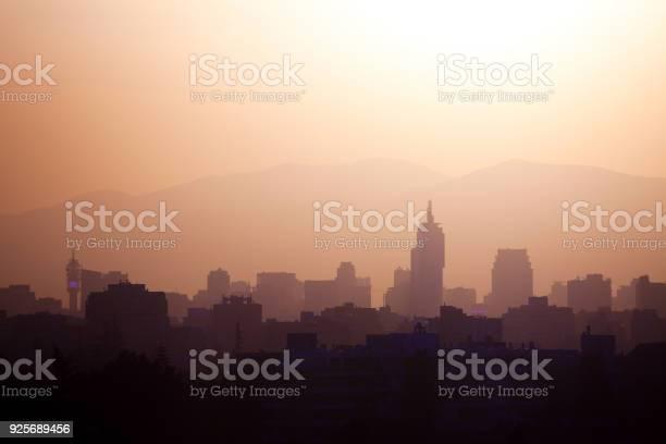Skyline of downtown Santiago de Chile