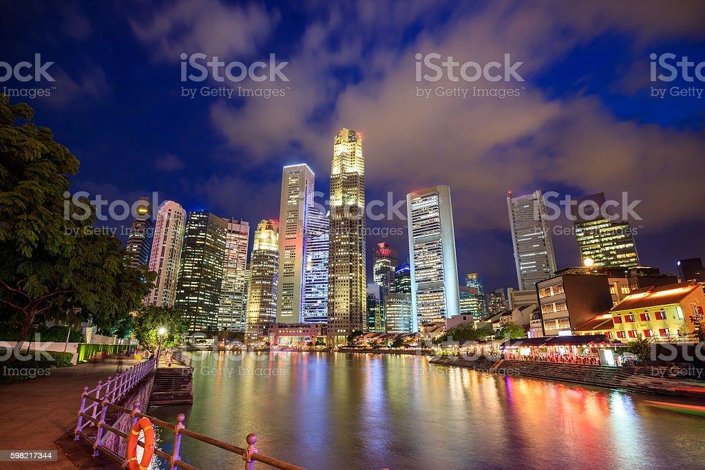 Skyline of downtown Singapore foto royalty-free