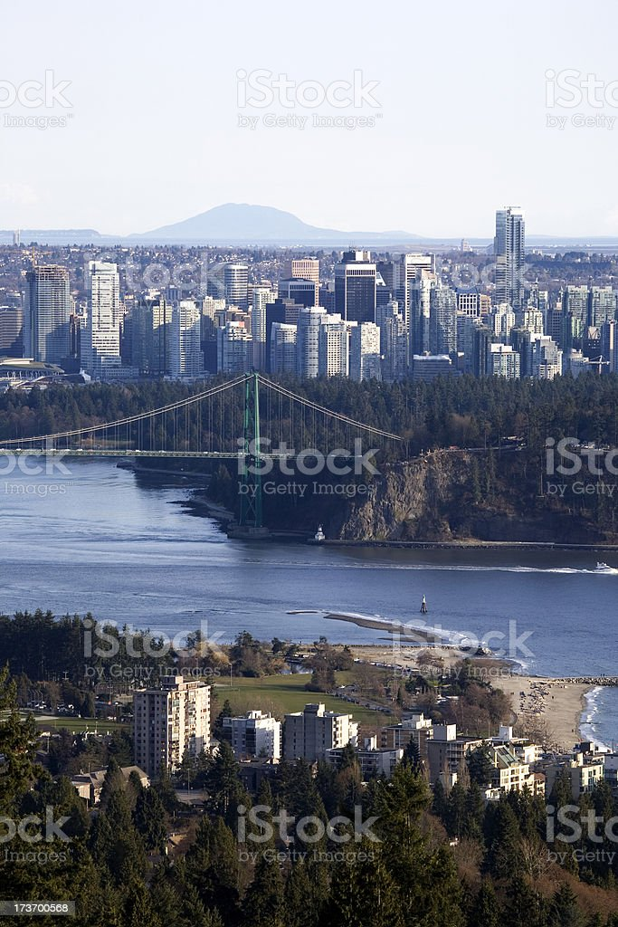 Skyline of downtown Vancouver stock photo