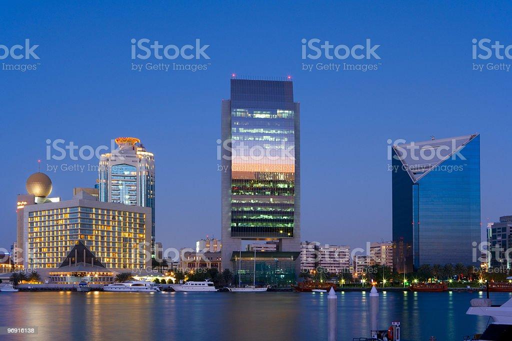 skyline of dubai, emirates royalty-free stock photo