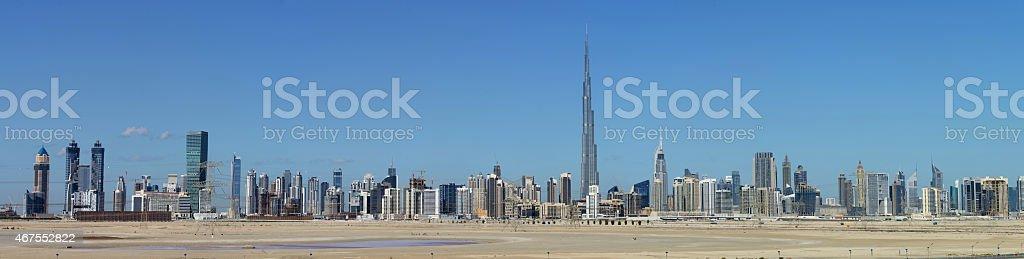 Skyline of Dubai stock photo