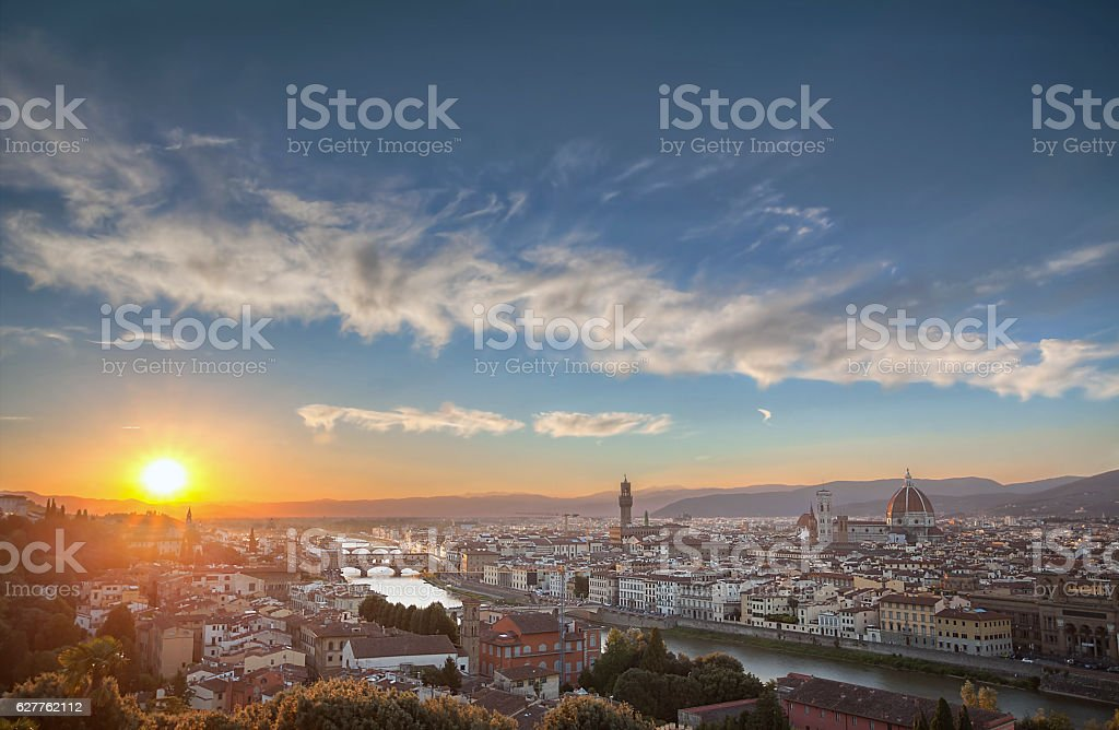 Skyline of Florence. stock photo