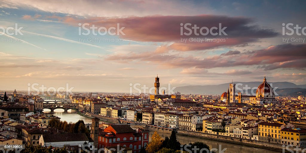 Skyline of Florence stock photo
