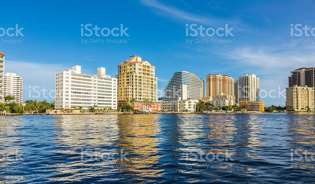 skyline of Fort Lauderdale stock photo