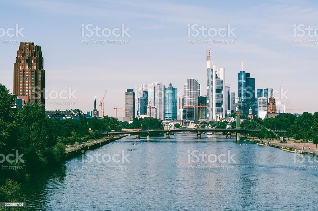 Skyline of Frankfurt am Main stock photo