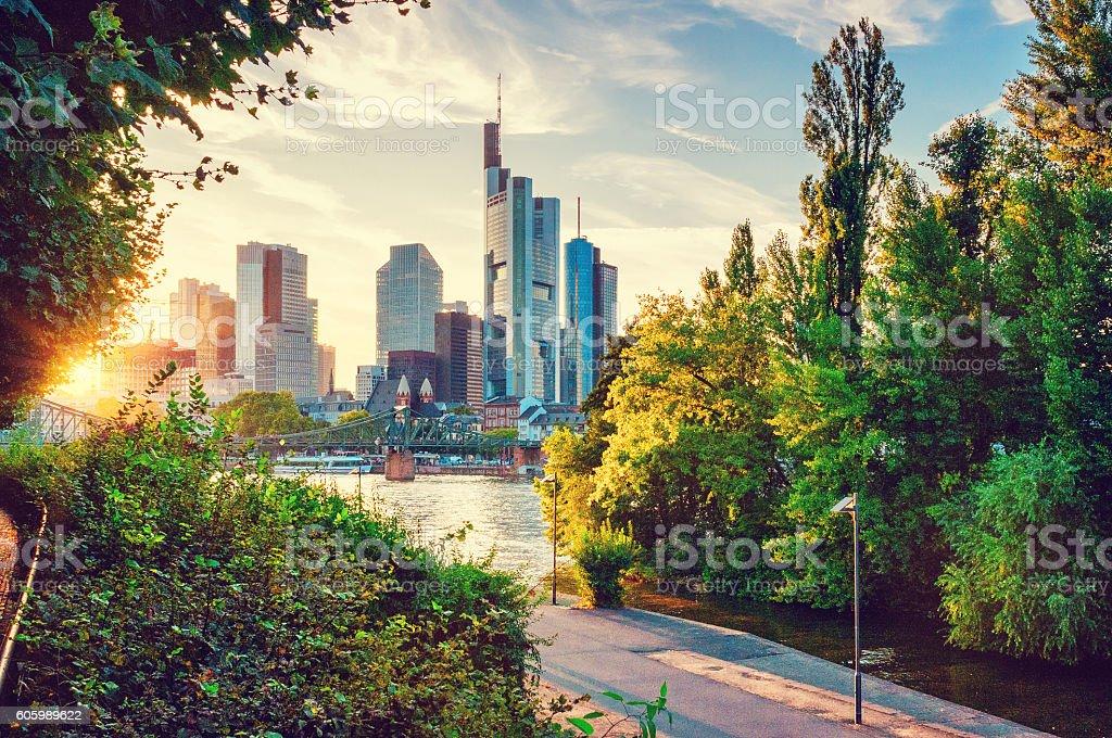 Skyline von Frankfurt am Main Lizenzfreies stock-foto