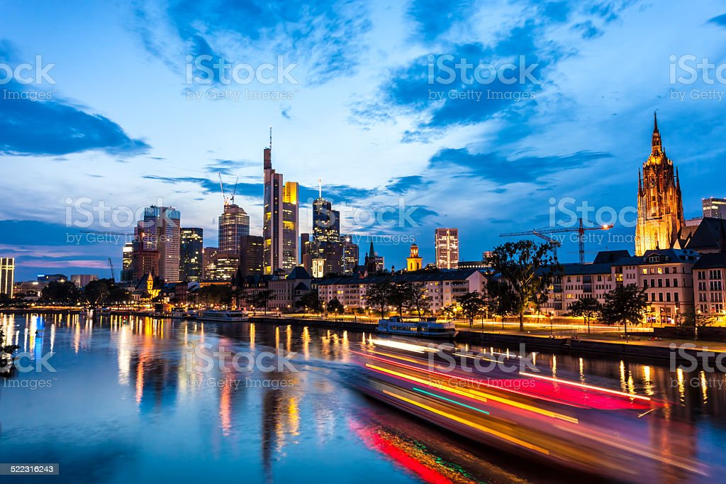 Skyline of Frankfurt, Germany stock photo