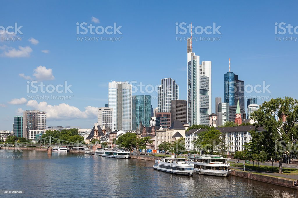 Skyline of Frankfurt Main, Germany stock photo
