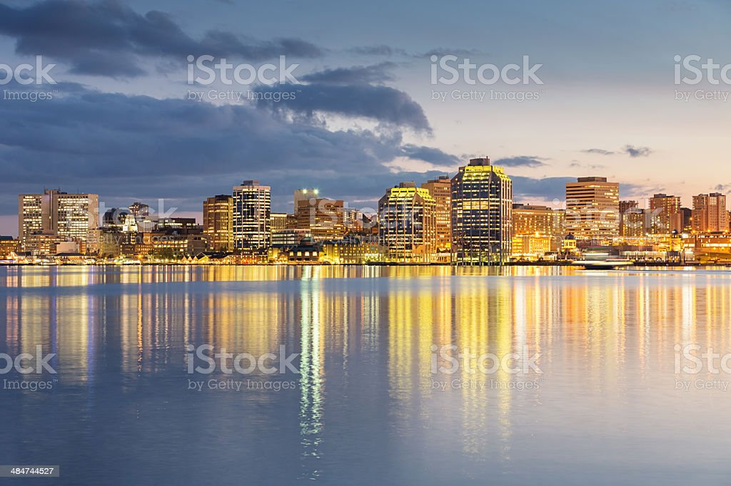 Skyline of Halifax, Canada stock photo