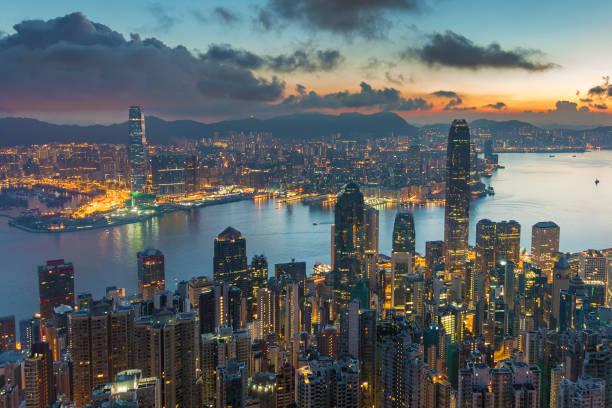 Skyline der Stadt Hongkong – Foto