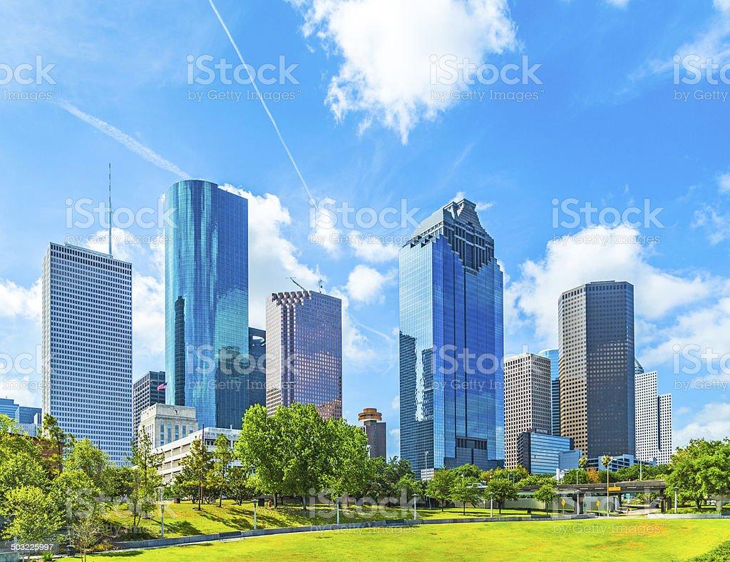 Skyline of Houston, Texas stock photo