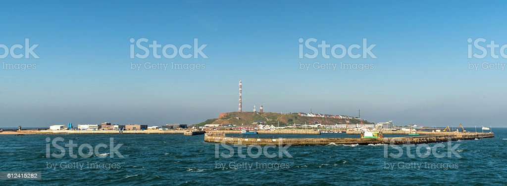 Skyline of Island Helgoland in German Sea Region stock photo