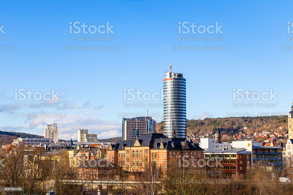 Skyline of Jena stock photo