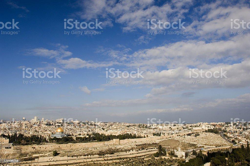 Skyline of Jerusalem royalty-free stock photo