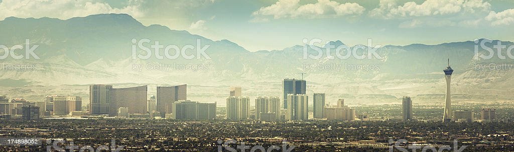 Skyline of Las Vegas valley royalty-free stock photo