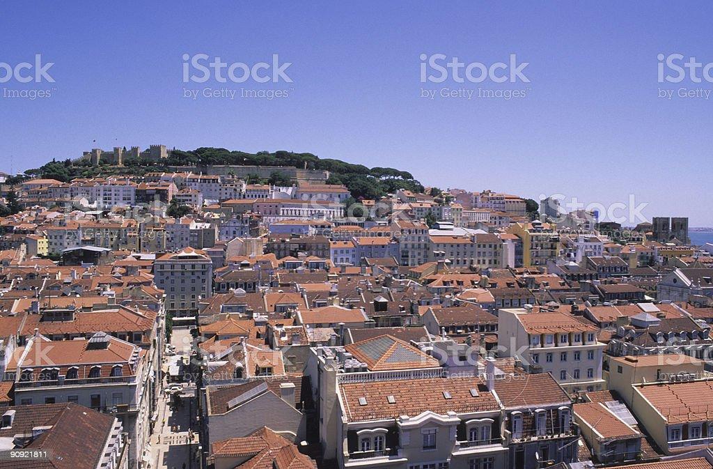 Skyline of Lisbon - Portugal royalty-free stock photo