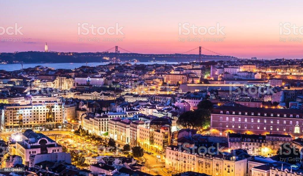 Skyline of Lisbon - Portuguese capital stock photo
