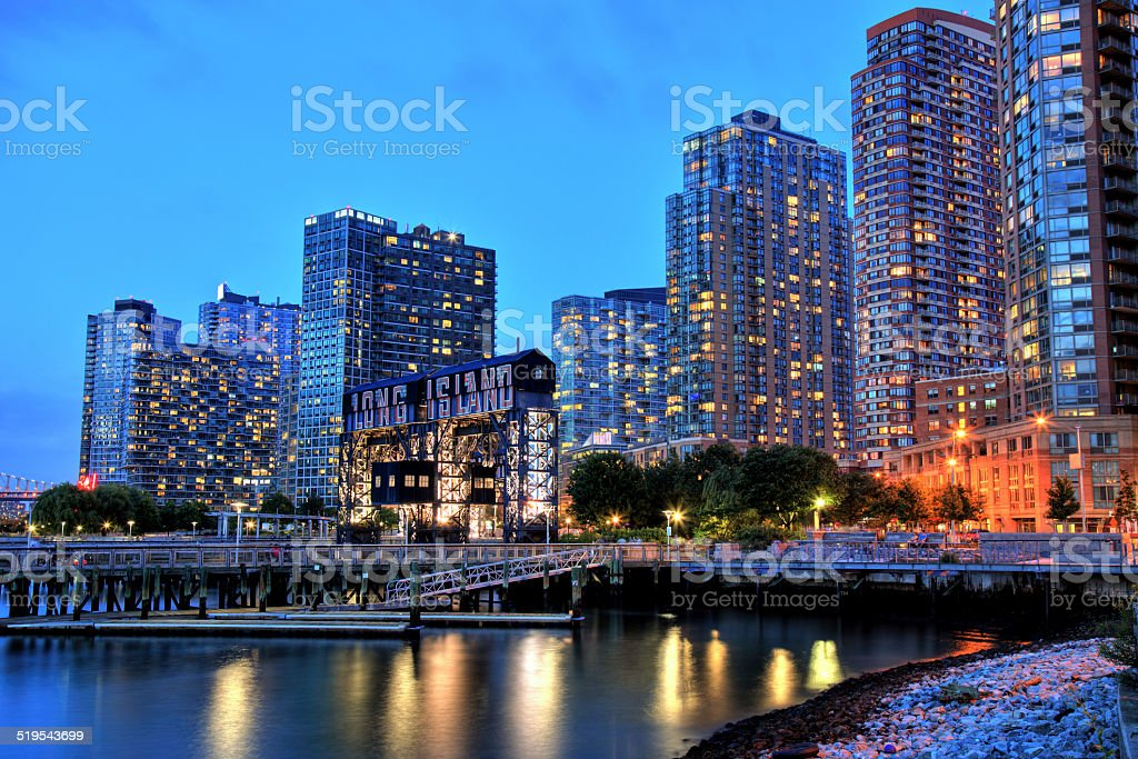 Skyline of Long Island, New York stock photo