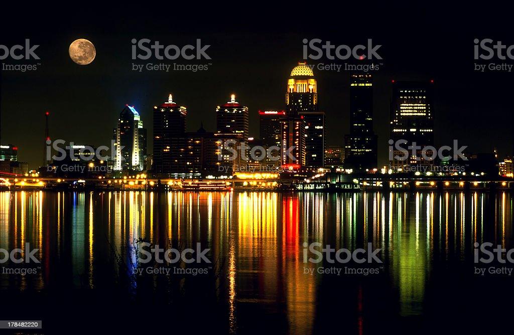 Skyline of Louisville, KY stock photo