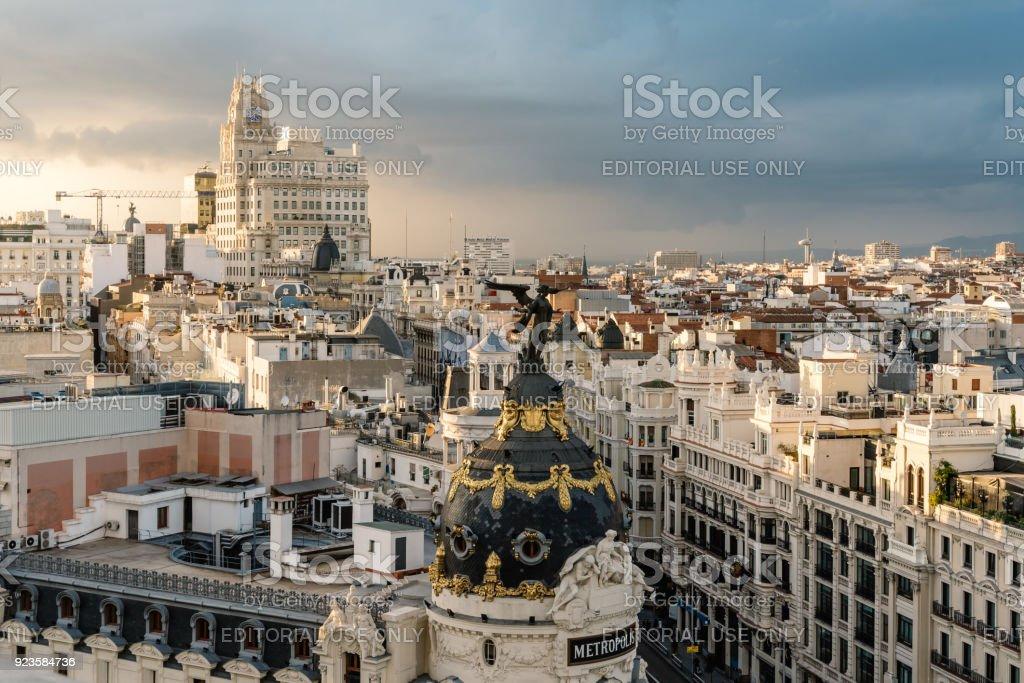 Skyline De Madrid Desde La Azotea Del Circulo De Bellas
