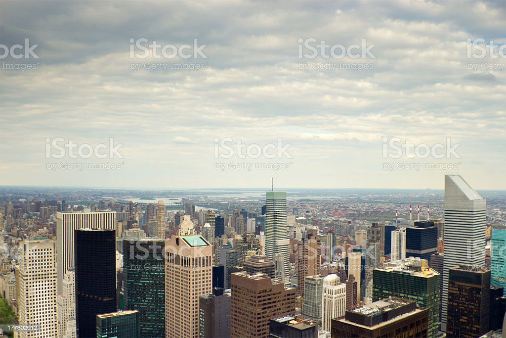 Skyline of Manhattan upper east side, NYC stock photo