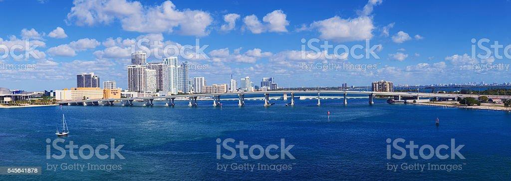 Skyline of Miami, Florida stock photo