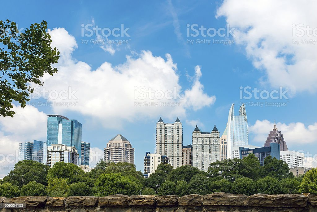 Skyline of midtown Atlanta, Georgia stock photo