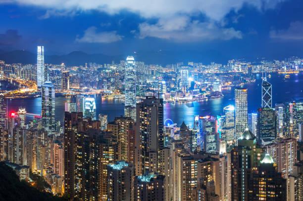 Skyline der Innenstadt von Hongkong – Foto
