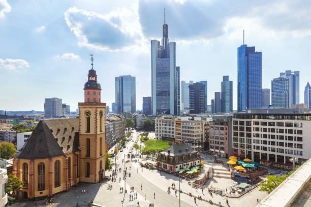 Skyline von Frankfurt Am Main, Deutschland – Foto